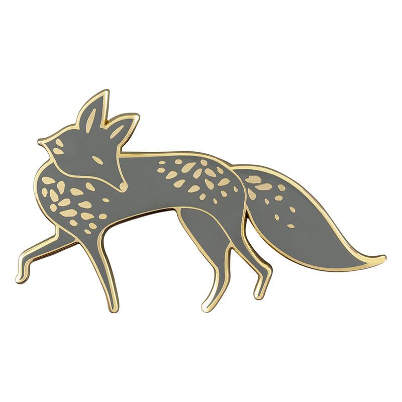 Folklore – Enamel Brooch Fox