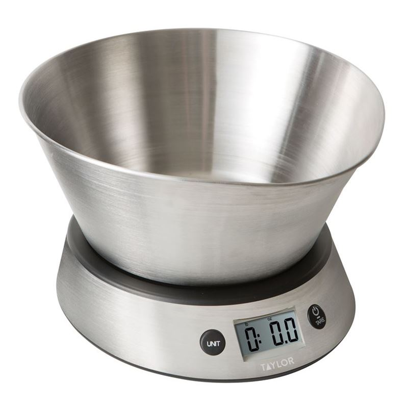 Taylor – Digital Scale with Stainless Steel Bowl 5kg