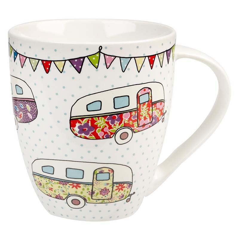 Queens by Churchill – Caravan Crush Mug Festival Cararvans 500ml