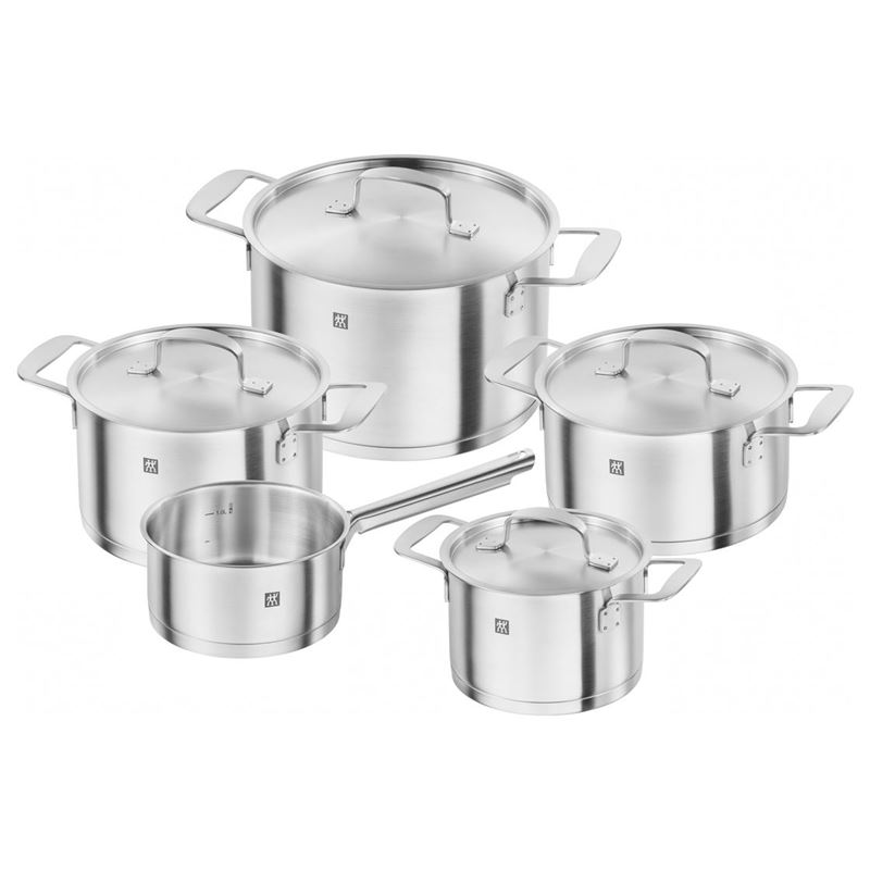 Zwilling – Base Premium 18/10 Stainless Steel Induction 5pc Cookware Set