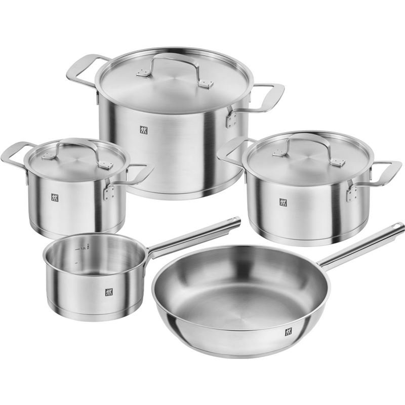 Zwilling – Base Premium 18/10 Stainless Steel Induction 5pc Frypan Cookware Set