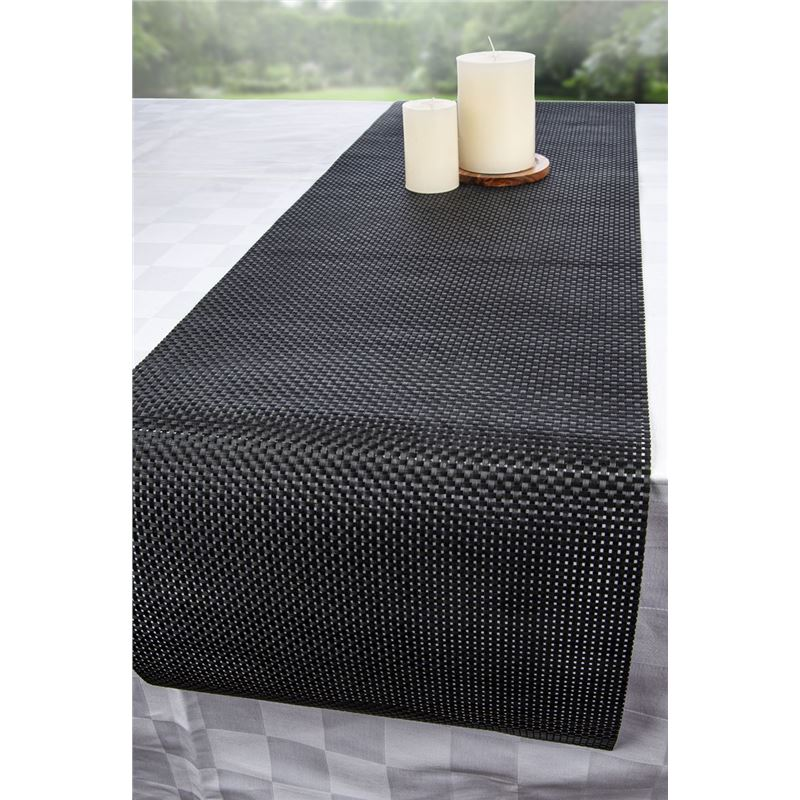 Ogilvies Designs – Entwine Table Runner 30x120cm Licorice