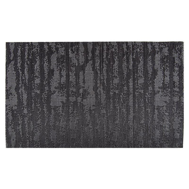 Ogilvies Designs – Woven Living Slate Place Mat 30x45cm Charcoal