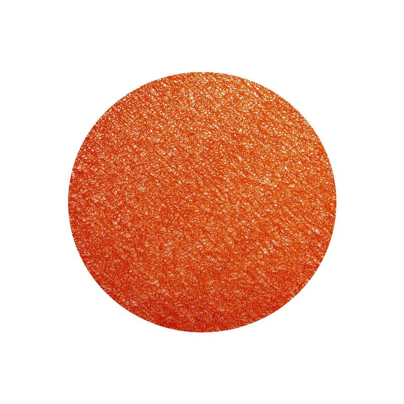Ogilvies Designs – Woven Living Spun Round Place Mat Orange
