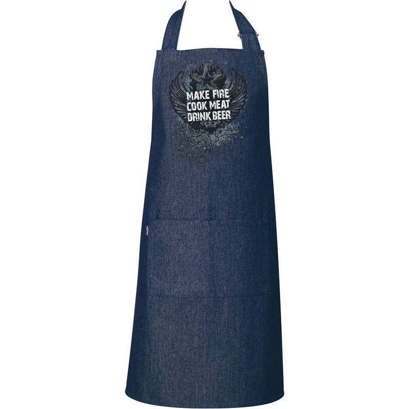 Ogilvies Designs – 100% Cotton Denim Make Fire Cook Meat Apron 70x80cm