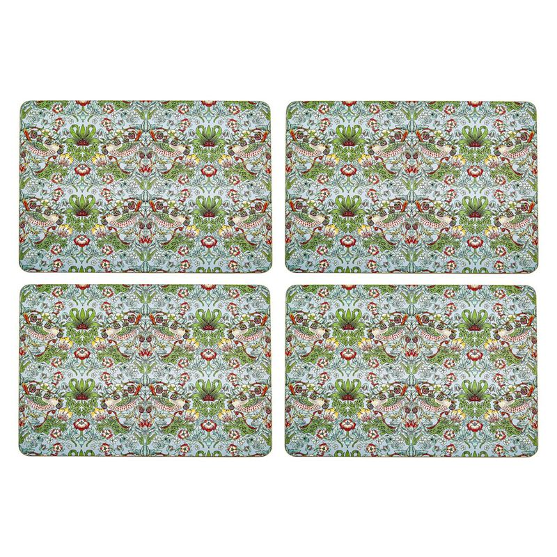 Nostalgic – Strawberry Thief Aqua Placemats 29×21.5cm Set of 4