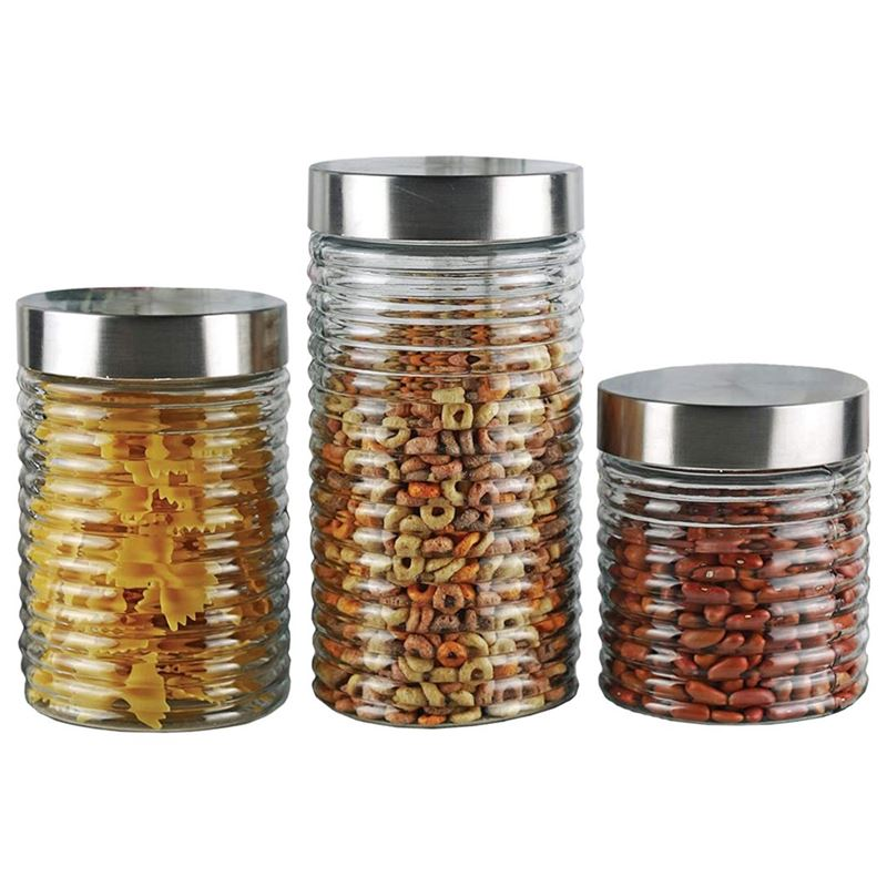 Benzer – Ring-a-Ling 3pc Glass Canister Set