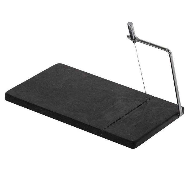 Davis & Waddell – Fine Foods Black Marble Cheese Slicing Board with Spare Wire 28×16.5cm