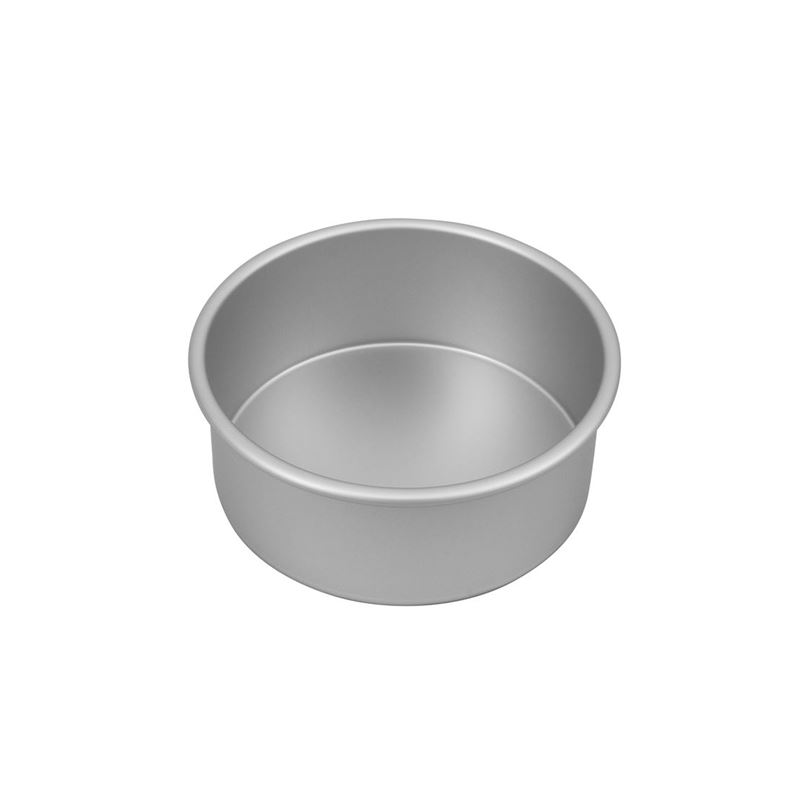 Bakemaster – Silver Anodised Round Cake Pan 17.5×7.5cm