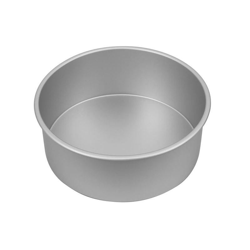 Bakemaster – Silver Anodised Deep Round Cake Pan 25x10cm