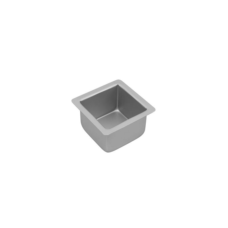Bakemaster – Silver Anodised Square Cake Pan 10×7.5cm