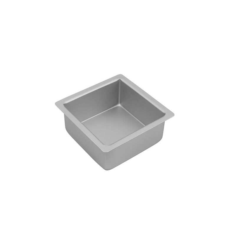 Bakemaster – Silver Anodised Square Cake Pan 15×7.5cm