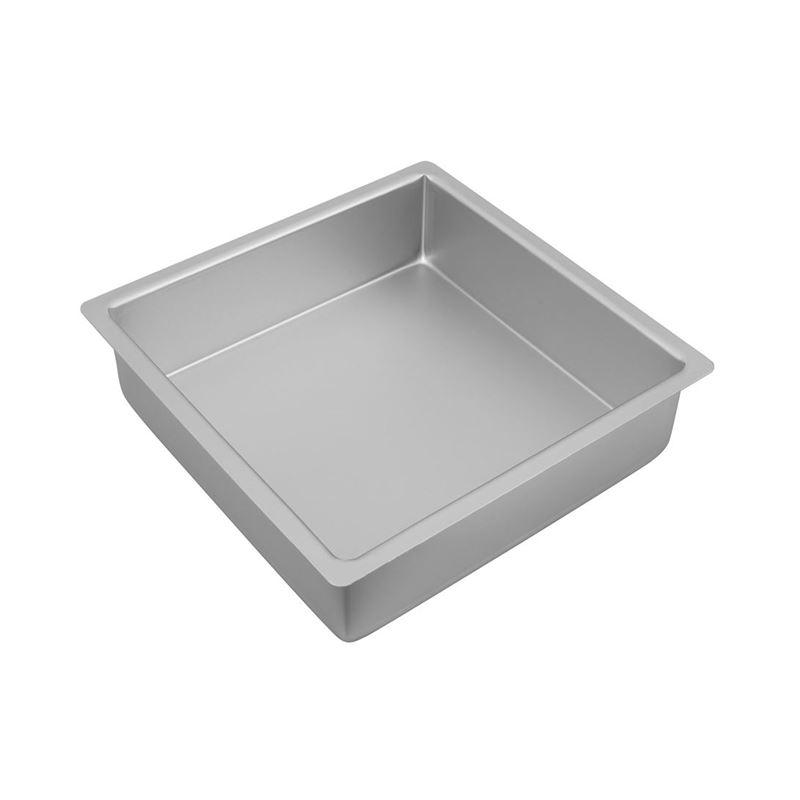 Bakemaster – Silver Anodised Square Cake Pan 25×7.5cm