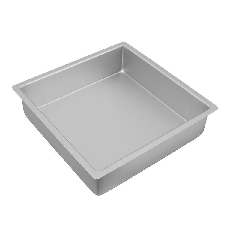 Bakemaster – Silver Anodised Square Cake Pan 27.5×7.5cm