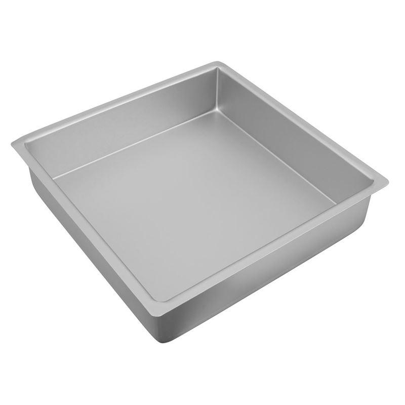 Bakemaster – Silver Anodised Square Cake Pan 30.5×7.5cm