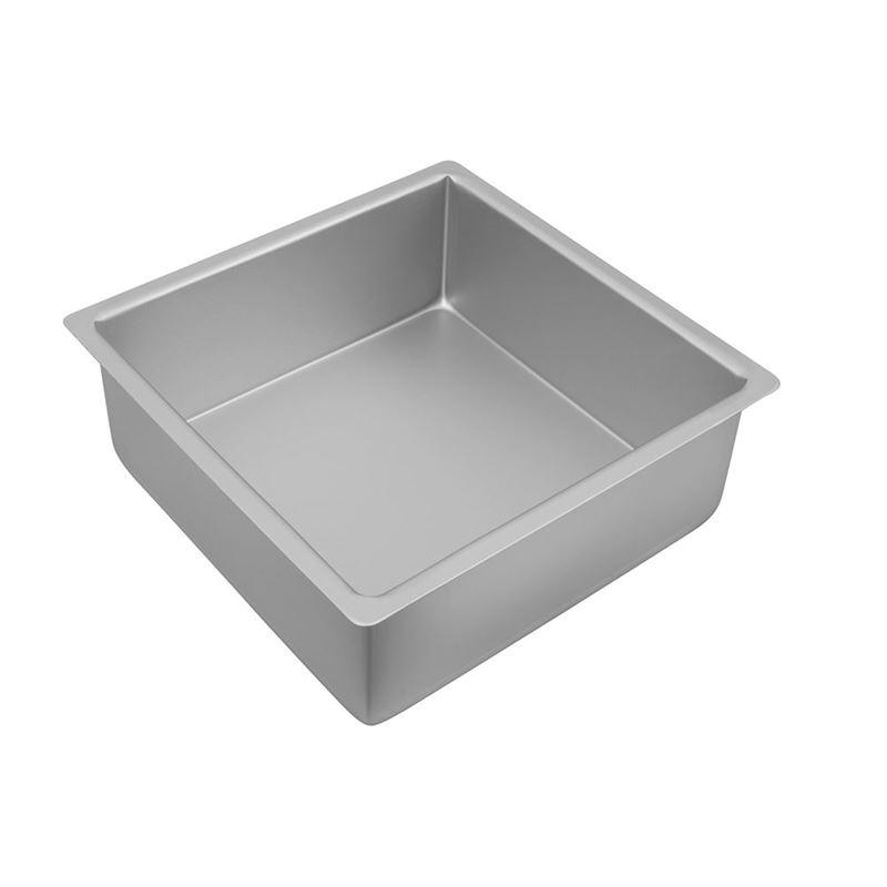 Bakemaster – Silver Anodised Deep Square Cake Pan 25x10cm