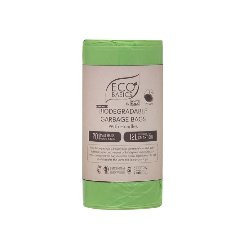 White Magic – Biodegradable Garbage Bags 44x64cm 12Ltr Small 20 Bags