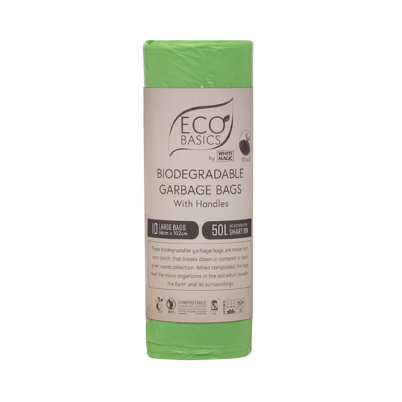 White Magic – Biodegradable Garbage Bags 66x102cm 50Ltr Large 10 Bags