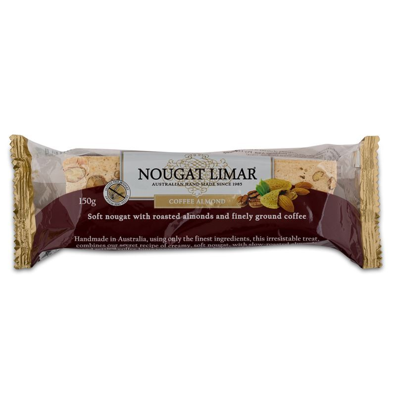 Nougat Limar – Coffee Almond Nougat Half Log 150g(Made in Australia)