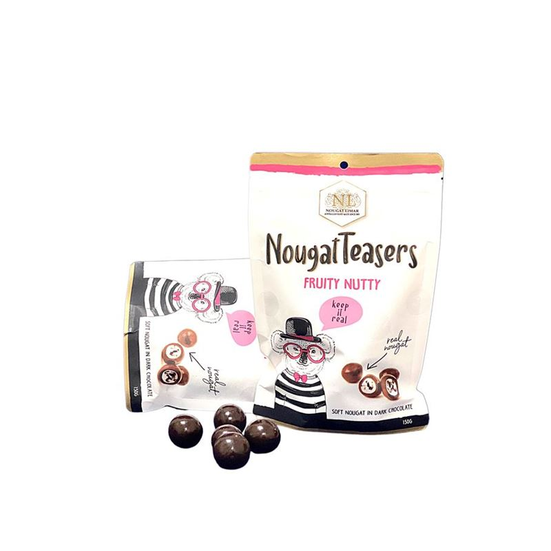 Nougat Limar – NougaTeasers Frutty Nutty Dark Chocolate 150g Bar(Made in Australia)