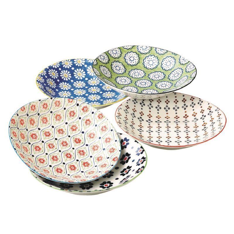 Goshiki by Noritake – Japanese Ceramics 22cm Deep Plate Set of 5 (Made in Japan)