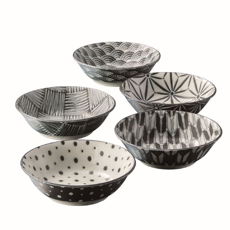 Komon by Noritake – Japanese Porcelain Multi Bowl 13.5cm Set of 5 (Made in Japan)