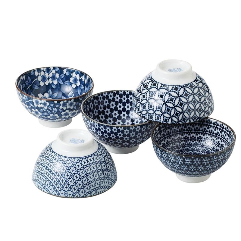 Nami by Noritake – Japanese Ceramics 12cm Rice Bowl Set of 5 (Made in Japan)
