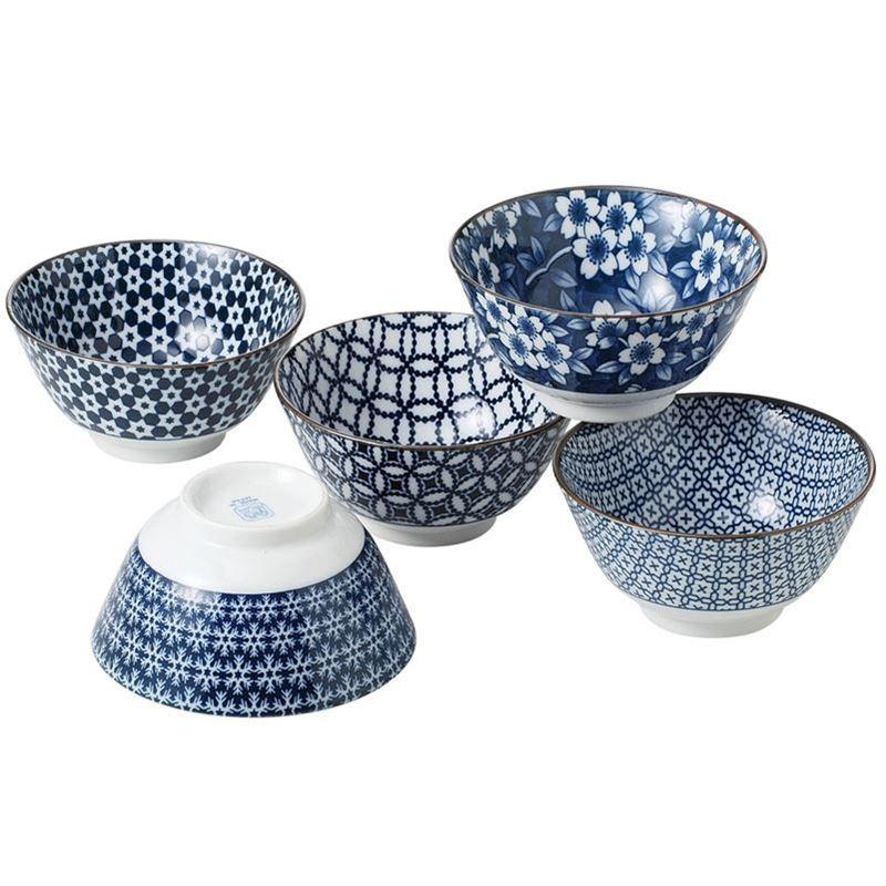 Nami by Noritake – Japanese Ceramics 13cm Multi Bowl Set of 5 (Made in Japan)
