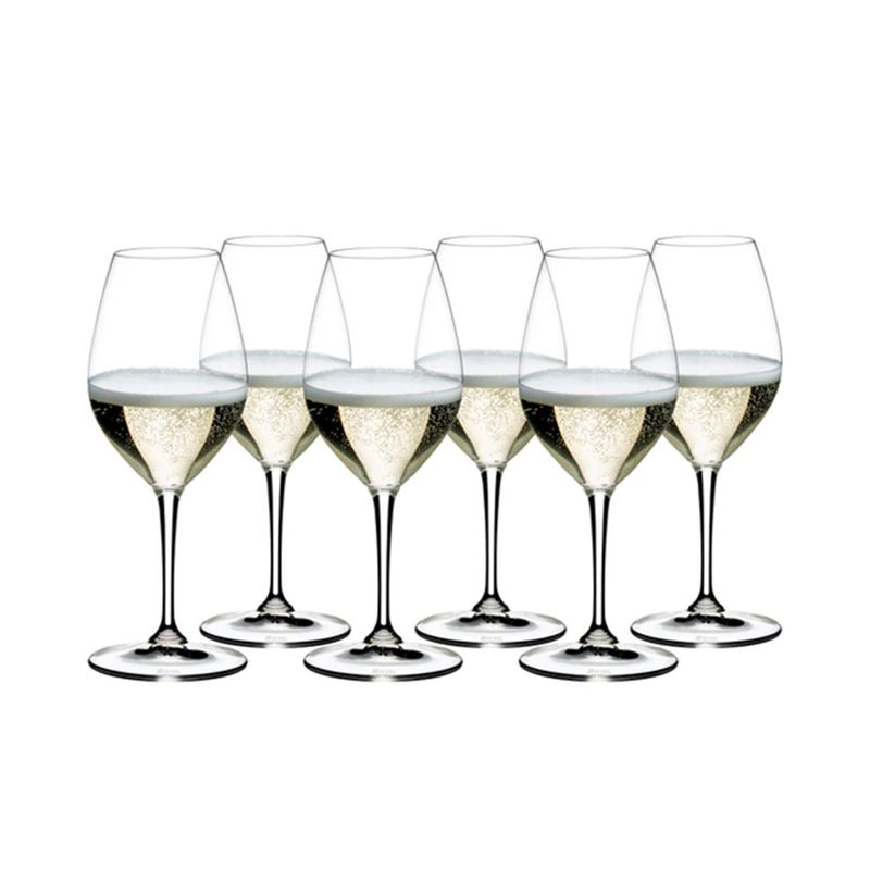Riedel Vinum – Champagne Wine Glass VALUE 6-PACK (Made in Germany)