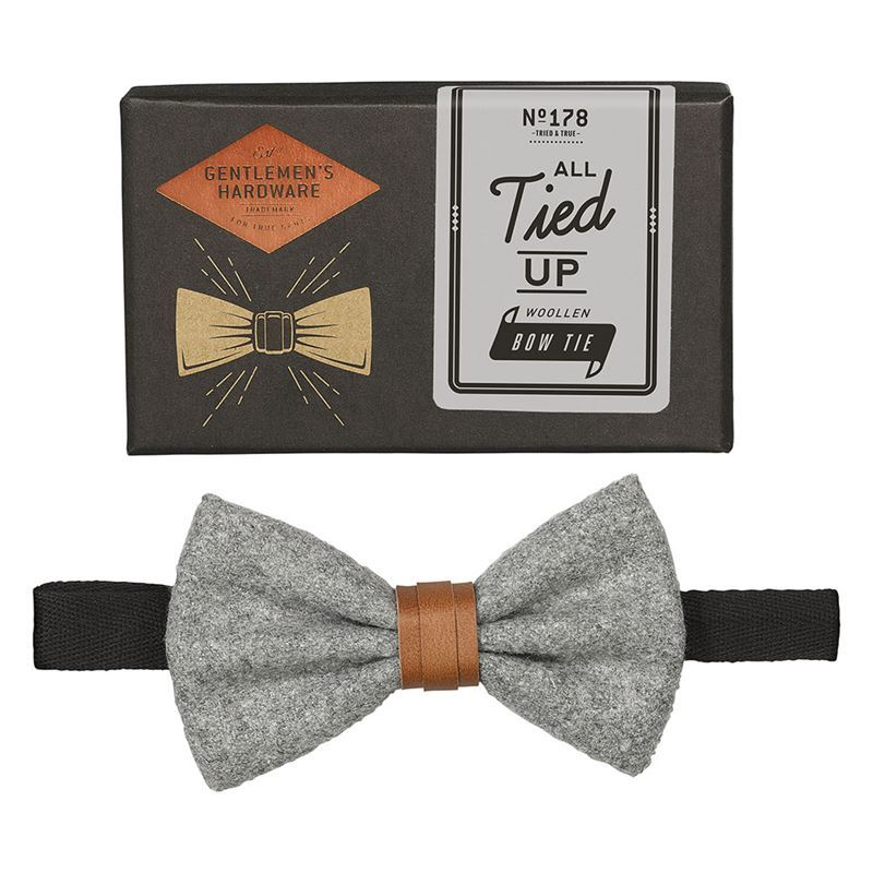 Gentleman's Hardware – All Tied Up Bow Tie Grey – Gift Boxed