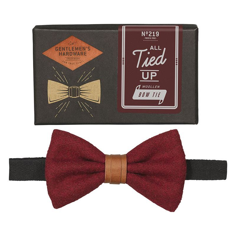 Gentleman's Hardware – All Tied Up Bow Tie Burgundy – Gift Boxed