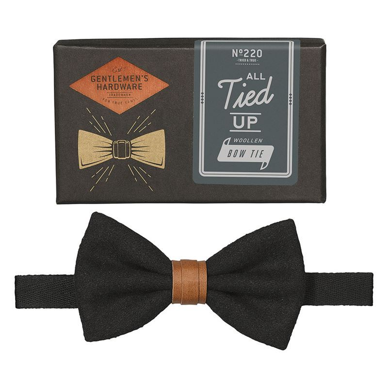 Gentleman's Hardware – All Tied Up Bow Tie Black – Gift Boxed
