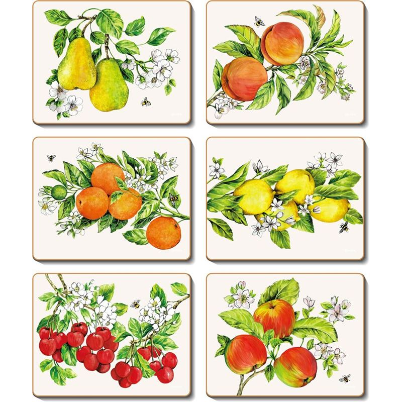 Cinnamon – Botanical Fruit Placemat 34×26.5cm Set of 6