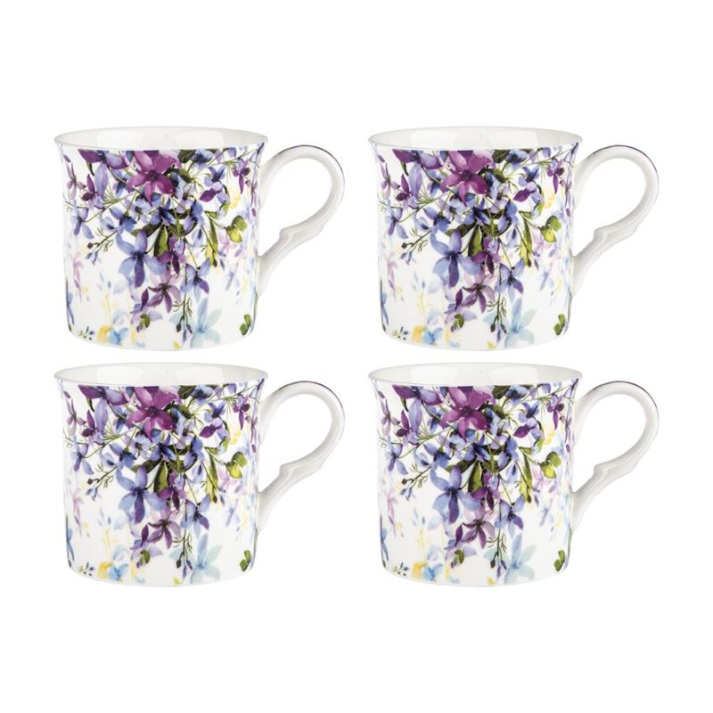 Heritage – Fine Bone China Princess Mug Set of 4 Malvern