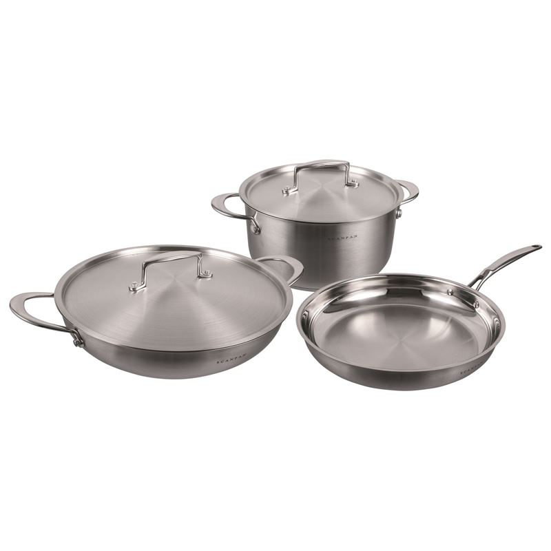 Scanpan – Satin 3pc Cookware Set