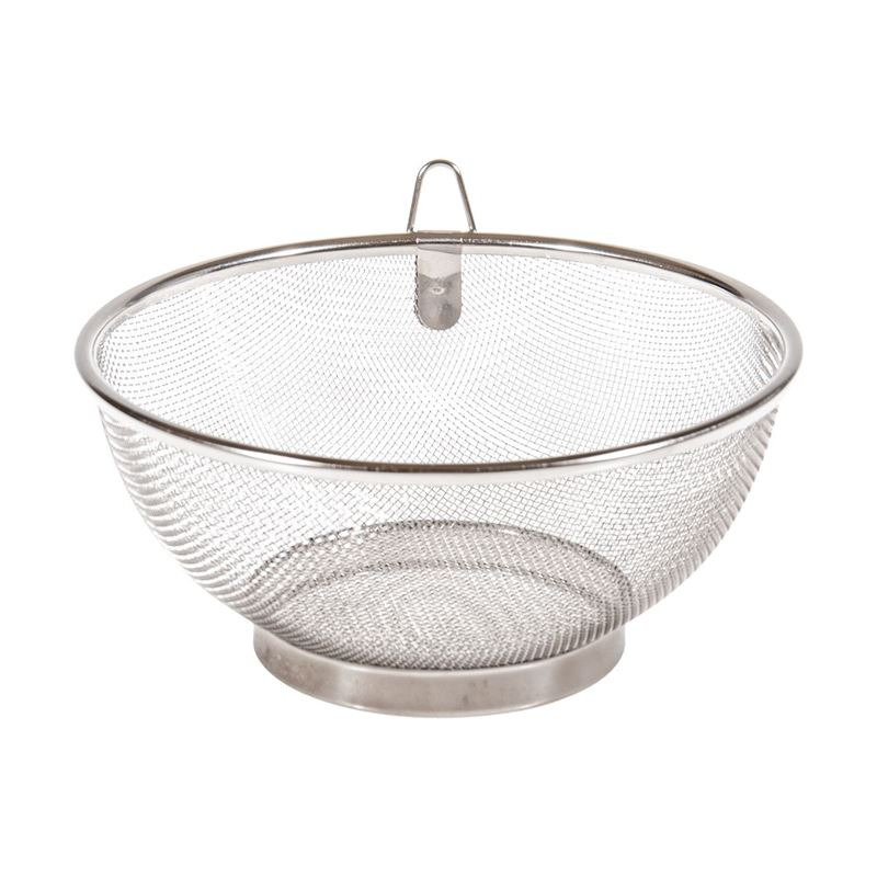 Benzer – Professional Stainless Steel Mesh Colander with Ring Hanger 19cm