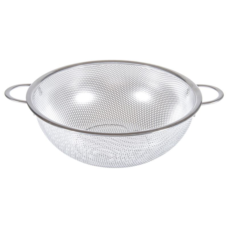 Benzer – Perforated Stainless Steel Strainer with Insulated Handle 25cm