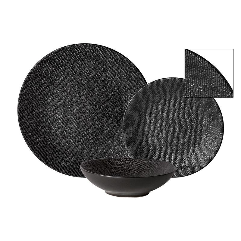 Zuhause – Studio Supreme Stoneware 12 Pce Dinner Set Matt Black