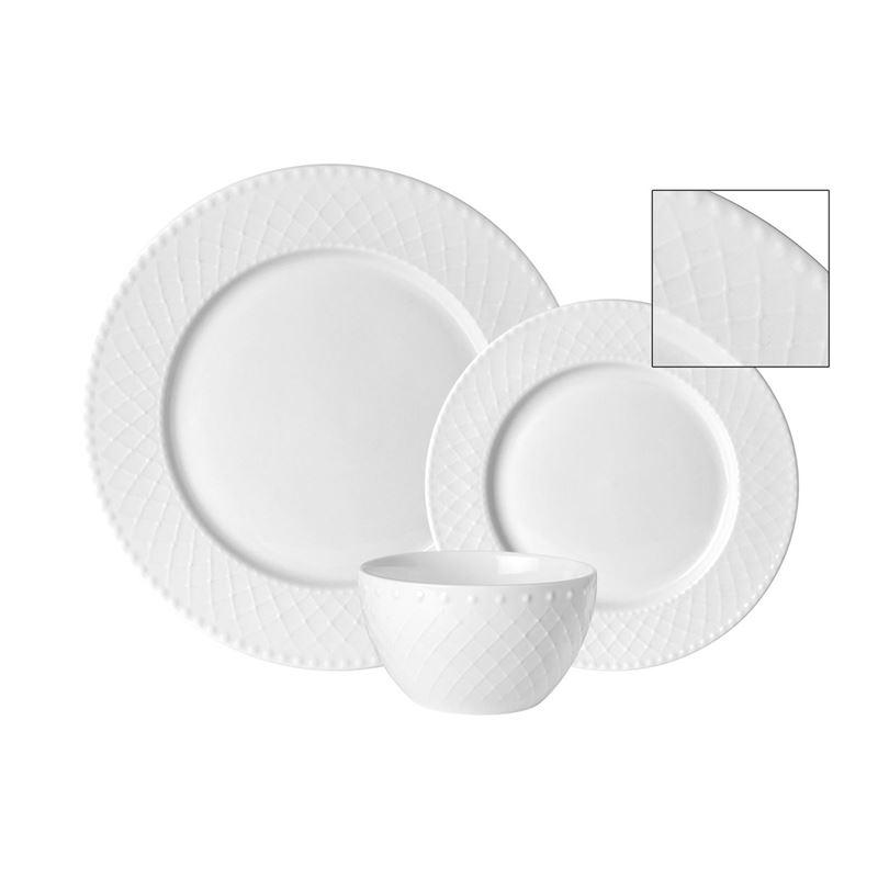 Benzer – Chiltern Durable Porcelain 12 Dinner Set