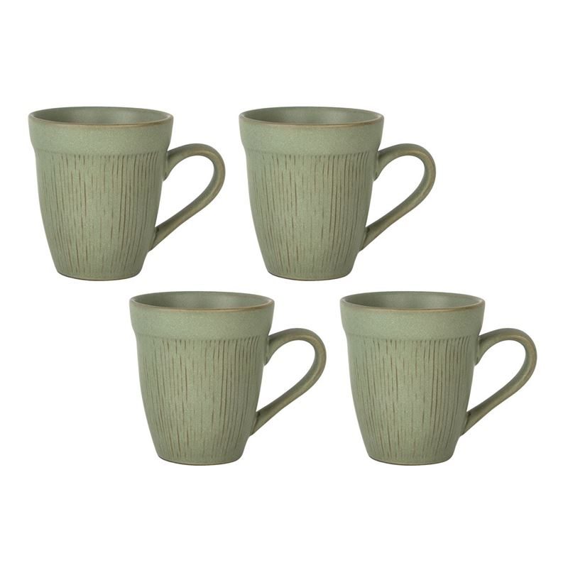 Zuhause – Studio Largo Supreme Stoneware 4 Pce Mug Set 415ml Moss Green
