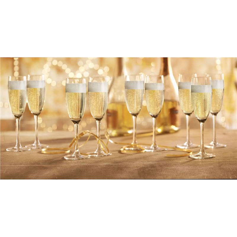 Royal Leerdam – Time to Party Flute 180ml Glasses Set of 18 (Made in The Netherlands)