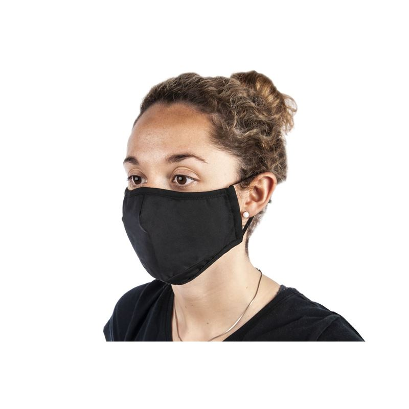 100% Cotton Fashion Face Mask Black – Non-Medical