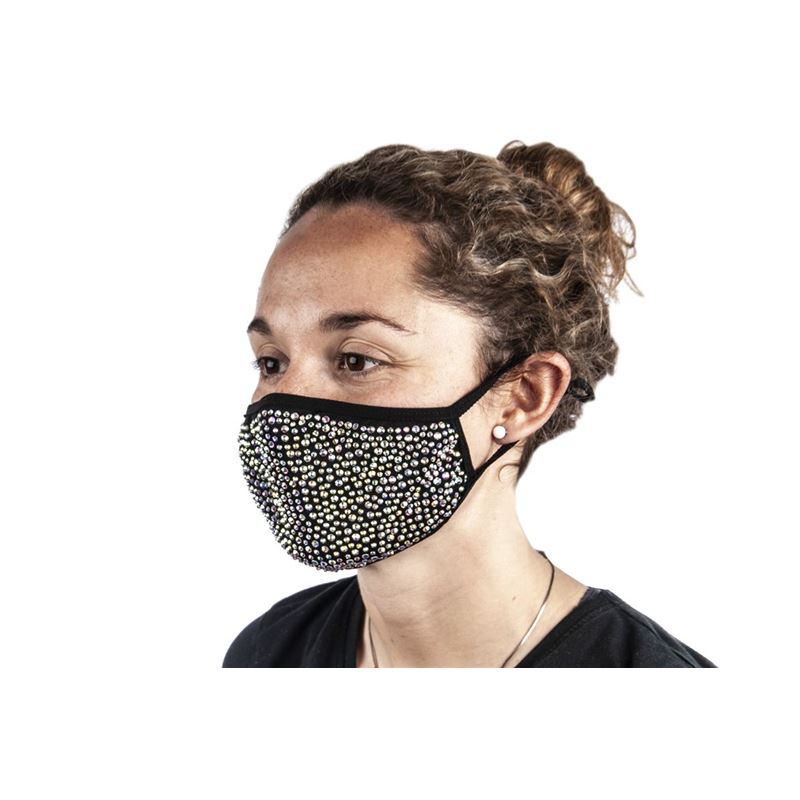 Bling Beaded Fashion Face Mask Multi – Non-Medical