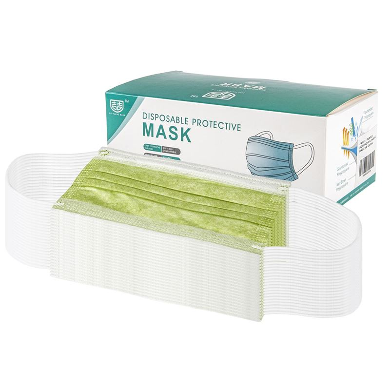 3-Ply Disposable Non Medical Face Mask Pack of 50 – Jade