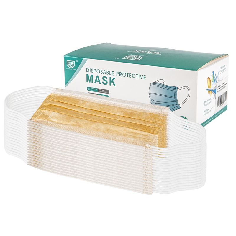 3-Ply Disposable Non Medical Face Mask Pack of 50 – Orange