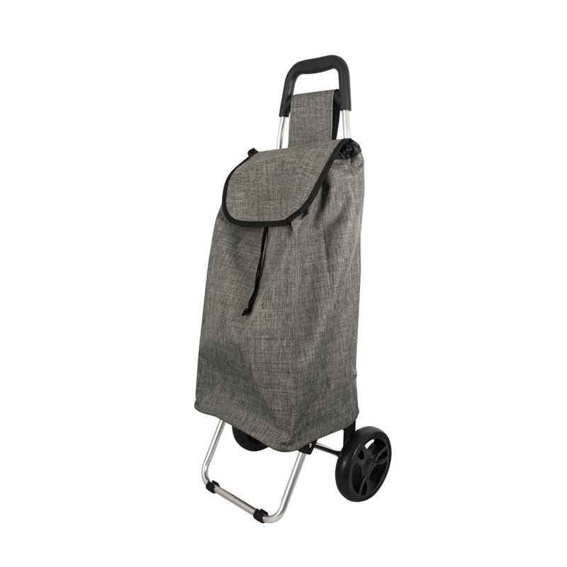 Karlstert – Aluminium Shopping Trolley Grey Square Handle