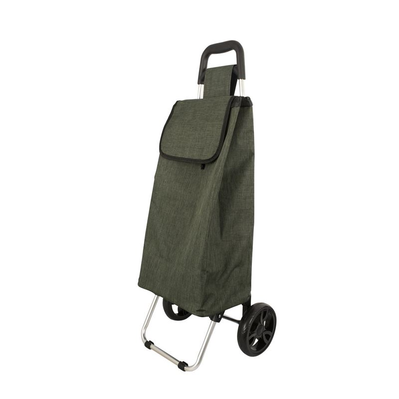 Karlstert – Aluminium Shopping Trolley Olive Square Handle