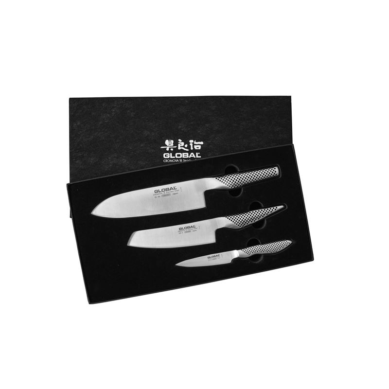 Global – 3pc Chef's Knife Set Gift Boxed (Made in Japan)