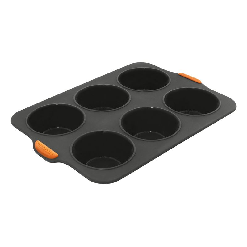 Bakemaster – Silicone 6 Cup Large Texas Muffin Pan Grey