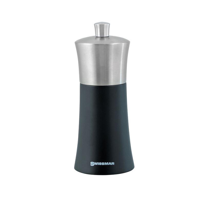 Swissmar – Torre Black Matt with Stainless Steel Top Pepper Mill 15cm